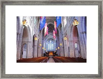 Princeton University Chapel Framed Print