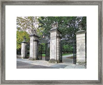 Princeton University Main Gate Framed Print