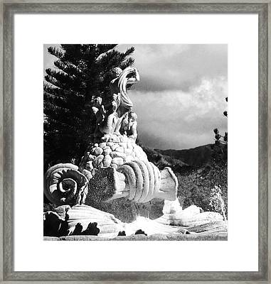Framed Print featuring the photograph Princeville Black And White by Alohi Fujimoto