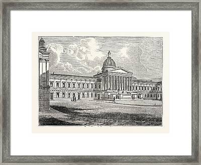 Principal Front Of The University Of London Framed Print