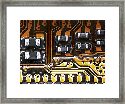 Printed Circuit Framed Print