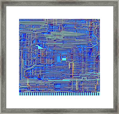 Printed Circuit Board Framed Print by Alfred Pasieka