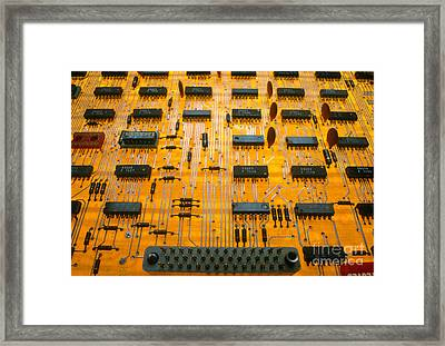 Printed Circuit Board Framed Print by John Raffo
