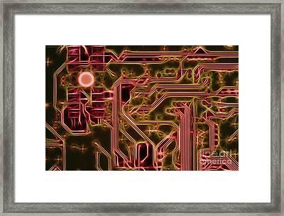 Printed Circuit - Motherboard Framed Print