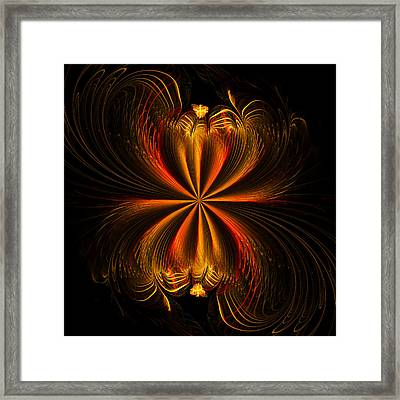 Printemps Papillon - Abstract Expressionism Framed Print