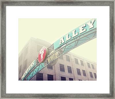 Printers Alley Framed Print