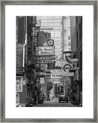 Printers Alley Nashville  Framed Print by Robert Hebert