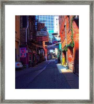 Printers Alley Nashville Tennessee Framed Print by Dan Sproul