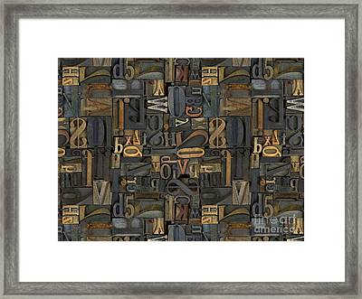 Printing Letters 1 Framed Print by Peter Awax