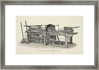 Printing Machine Framed Print by British Library