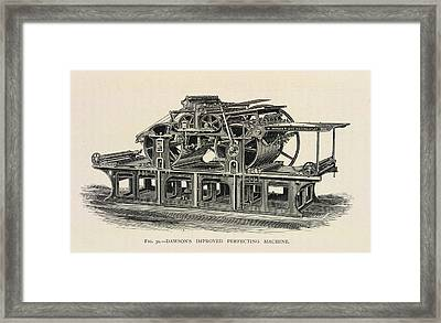 Printing Press Framed Print by British Library