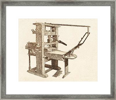 Printing Press Framed Print by David Parker