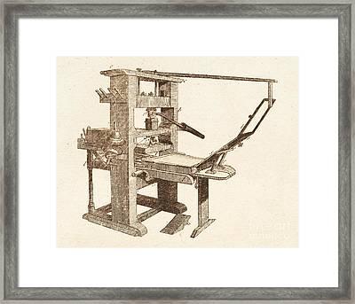 Printing Press Framed Print
