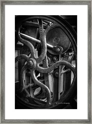 Printing Press Flywheel Framed Print