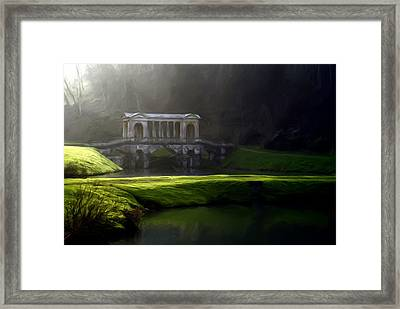 Framed Print featuring the digital art Prior Park Bath by Ron Harpham
