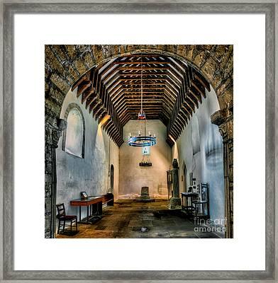 Priory Church Of St Seiriol Framed Print by Adrian Evans