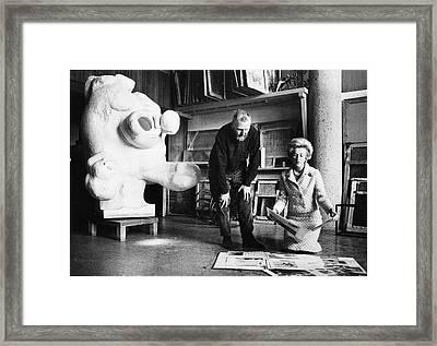 Priscilla Biddle Duke And Pablo Serrano Framed Print