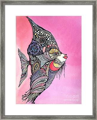 Priscilla The Fish Framed Print by Iya Carson
