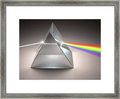 Prism And Rainbow Framed Print by Ktsdesign