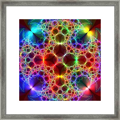 Prism Bubbles Framed Print
