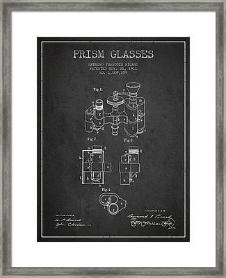 Prism Glasses Patent From 1911 - Dark Framed Print