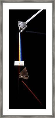 Prism Splitting White Light Ray Framed Print by Dorling Kindersley/uig