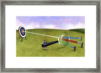 Prism Target Framed Print by Steve Dininno
