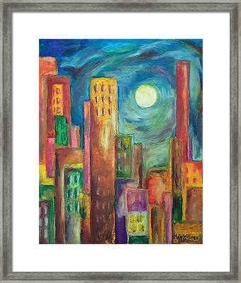 Prismatic Cityscape Framed Print by Molly Williams
