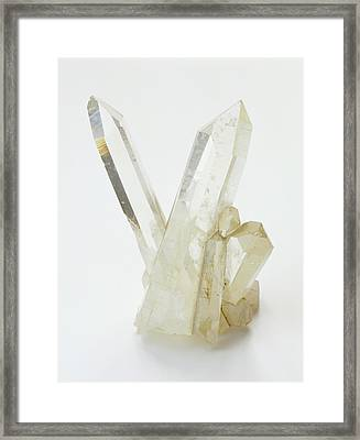 Prismatic Rock Crystals Framed Print by Dorling Kindersley/uig