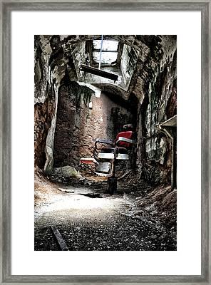 Prison Barbershop Framed Print by Bill Cannon