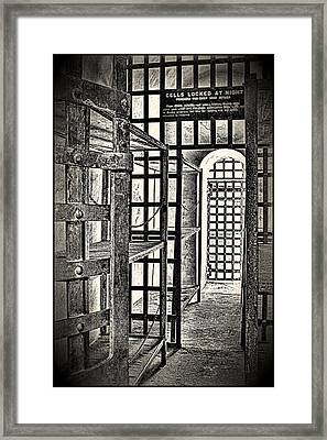 Framed Print featuring the photograph Prison Cell ... by Chuck Caramella