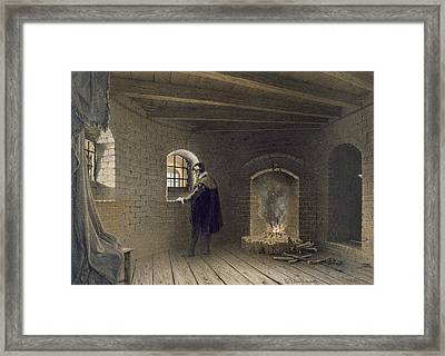Prison Of Duke John, Son Of Gustav I Framed Print by Karl Johann Billmark
