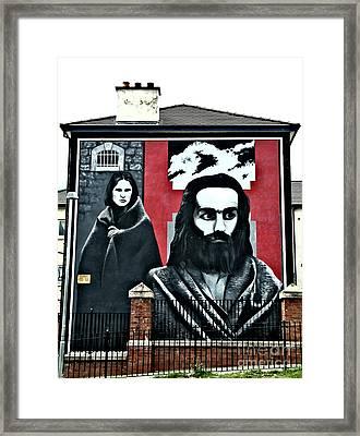 Prison Protest Framed Print by Nina Ficur Feenan