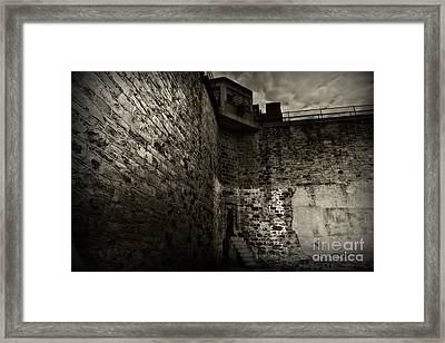 Prison Walls In Black And White Framed Print by Paul Ward