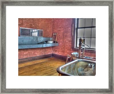 Prisoner's Bath And Laundry Framed Print