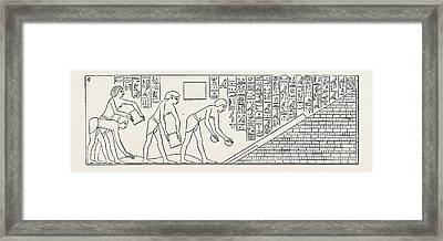 Prisoners Of War Engaged On The Buildings Of Thothmes IIi Framed Print
