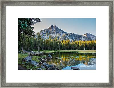 Pristine Alpine Lake Framed Print by Robert Bales