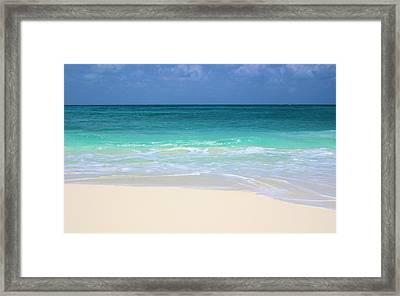 Pristine Beach Cancun Framed Print