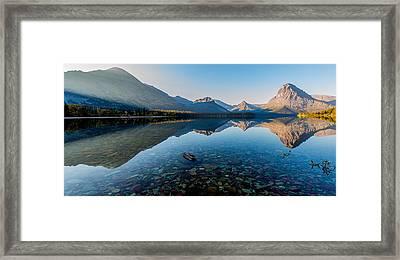 Pristine Lake Framed Print by Rohit Nair