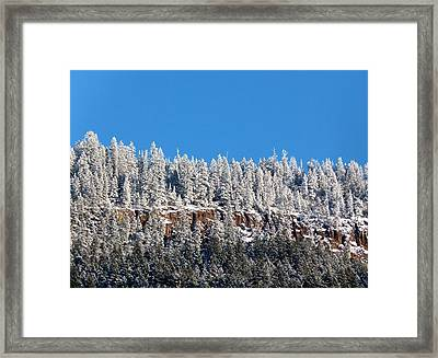 Pristine Mountaintop  Framed Print