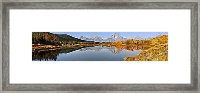 Pristine Panorama Framed Print