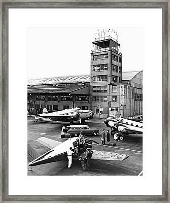 Private Aircraft At Teterboro Framed Print