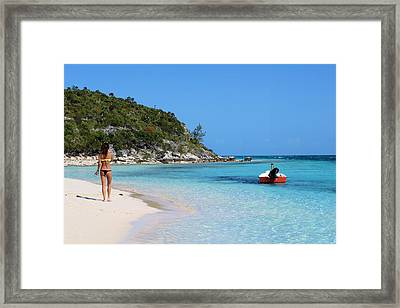 Private Beach Bahamas Framed Print