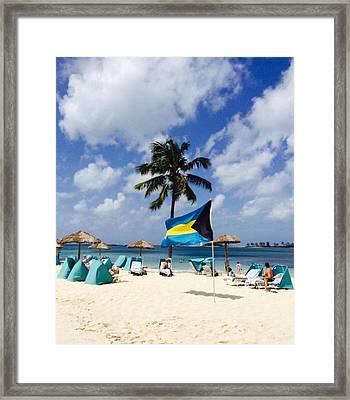 Private Beach Framed Print