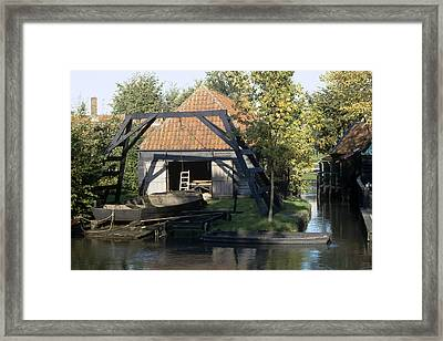 Private Boathouse Framed Print