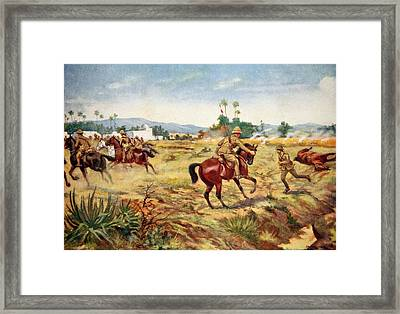 Private C. Hull Saving The Life Framed Print