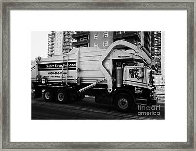private disposal company truck Saskatoon Saskatchewan Canada Framed Print by Joe Fox