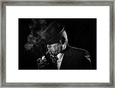 Private Eye Framed Print by Jeff Burton