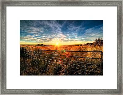Private Field Framed Print by Svetlana Sewell