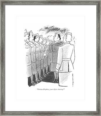 Private Hopkins Framed Print